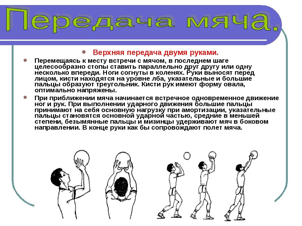 передача и ловля волейбольного мяча 3 класс