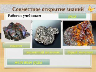 Совместное открытие знаний Работа с учебником – Всегда ли в природе металлы в