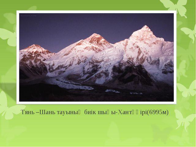 Тянь –Шань тауының биік шыңы-Хантәңірі(6995м)