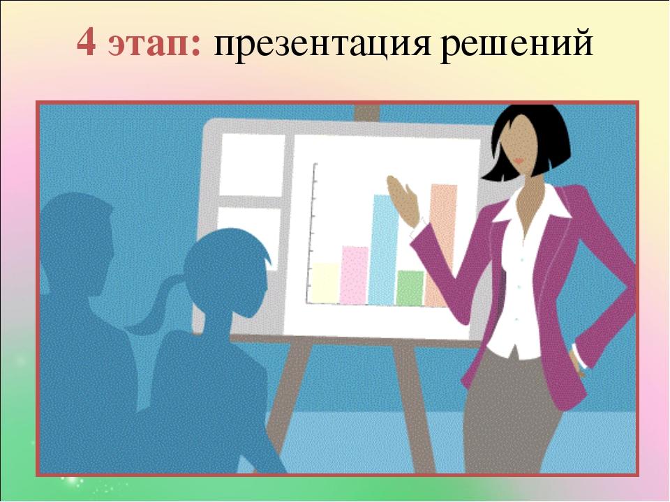4 этап: презентация решений