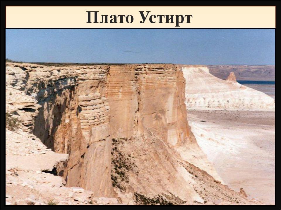 Плато Устирт Название Высота, метры Фундамент,складчатость Горные породы Рель...