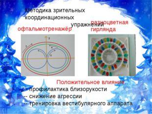офтальмотренажёр разноцветная гирлянда Положительное влияние. -- профилактика