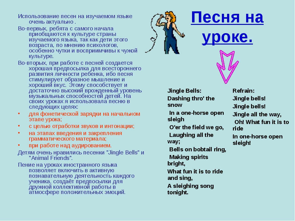 Песня на уроке. Использование песен на изучаемом языке очень актуально . Во-п...