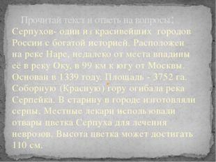 Серпухов- один из красивейших городов России с богатой историей. Расположен н