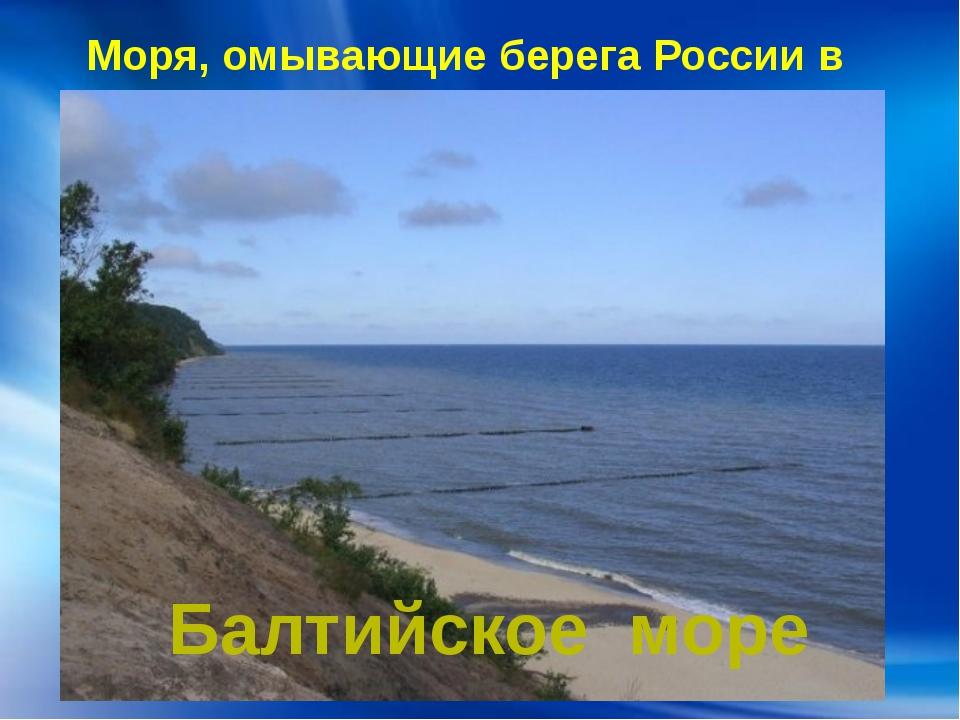 Моря, омывающие берега России в Европе: Балтийское море