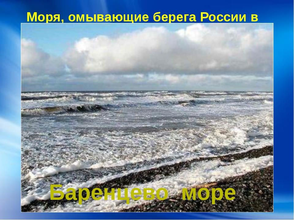 Моря, омывающие берега России в Европе: Баренцево море