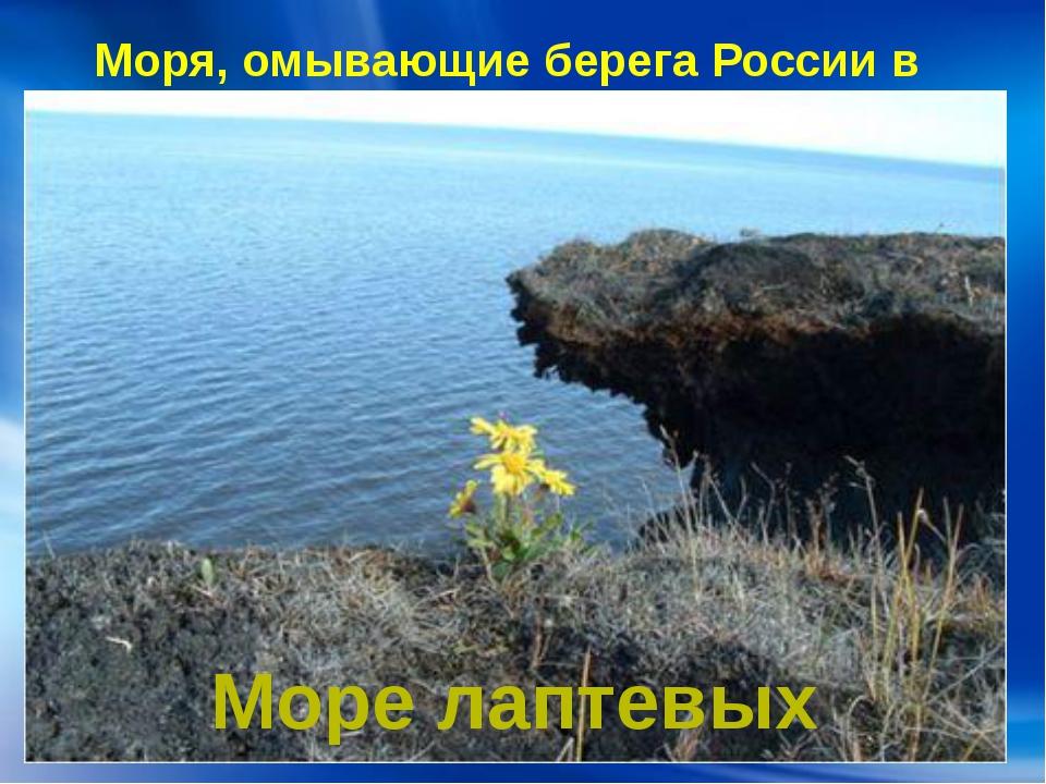 Моря, омывающие берега России в Азии: Море лаптевых