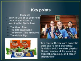 Key points Promises duty to God or to your religion duty to your country keep
