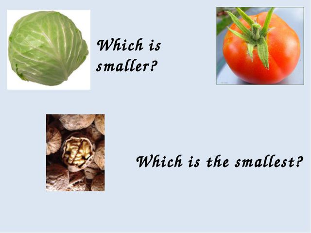 Which is smaller? Which is the smallest?
