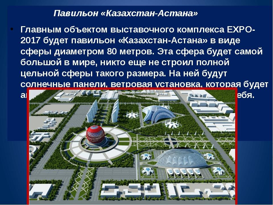 Павильон «Казахстан-Астана» Главным объектом выставочного комплекса EXPO-201...