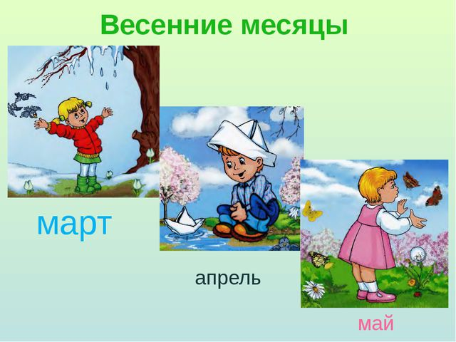 Весенние месяцы апрель май март