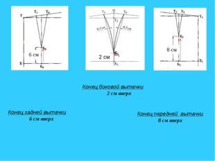 Конец боковой вытачки 2 см вверх 2 см 2 см Б5 Конец задней вытачки 6 см вверх