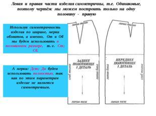 Левая и правая части изделия симметричны, т.е. Одинаковые, поэтому чертёж мы