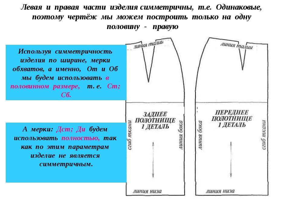 Левая и правая части изделия симметричны, т.е. Одинаковые, поэтому чертёж мы...
