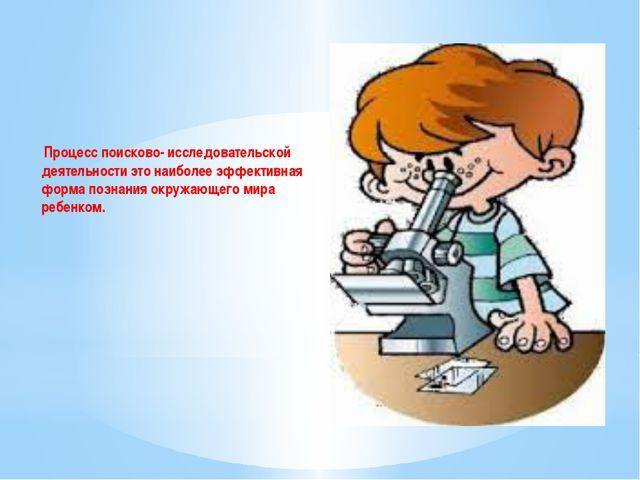 Процесс поисково- исследовательской деятельности это наиболее эффективная фо...