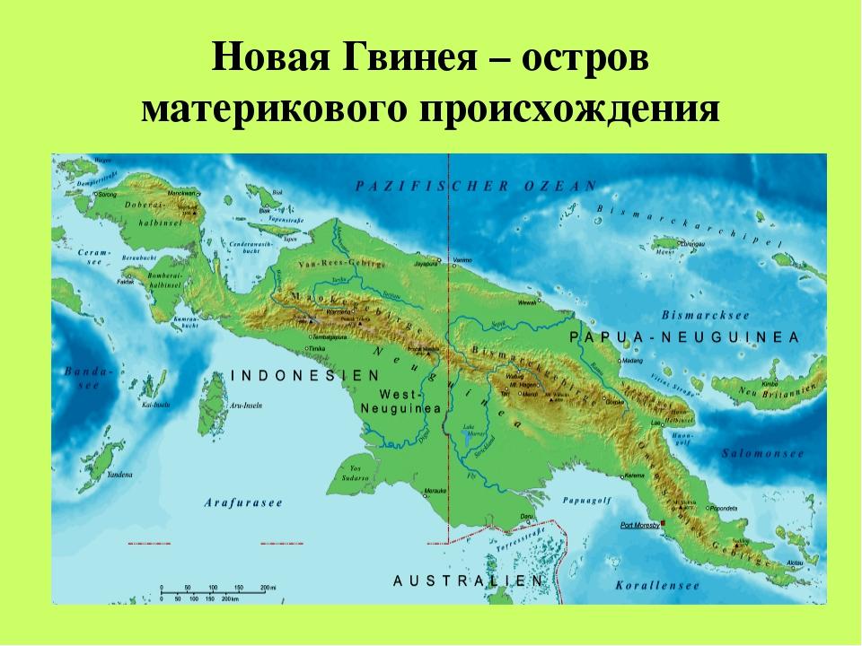 Остров Новая Гвинея – второй по величине остров в мире.