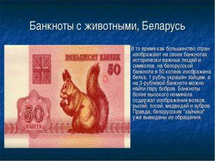 Банкноты с животными, Беларусь В то время как большинство стран изображают на