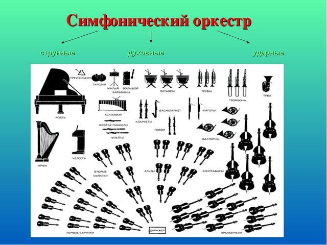 Симфонический оркестр струнные  духовныеударные
