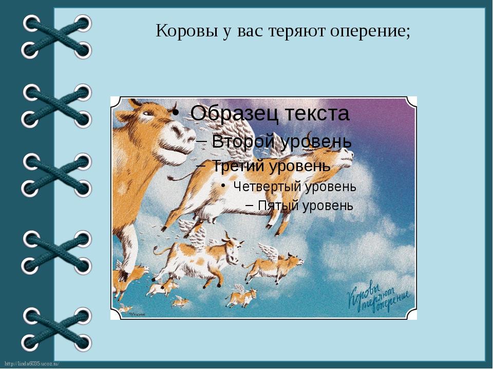Коровы у вас теряют оперение; http://linda6035.ucoz.ru/