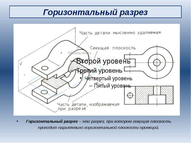 Горизонтальный разрез Горизонтальный разрез – это разрез, при котором секущая...