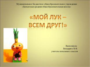 Муниципальное бюджетное общеобразовательное учреждение «Баткатская средняя об
