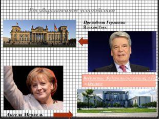 Государственное устройство Ведомство федерального канцлера Германии в Берлине