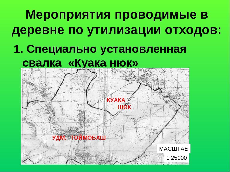 Мероприятия проводимые в деревне по утилизации отходов: 1. Специально установ...