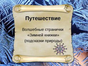 Внеклассное занятие Волшебные странички «Зимней книжки» (подсказки природы) В