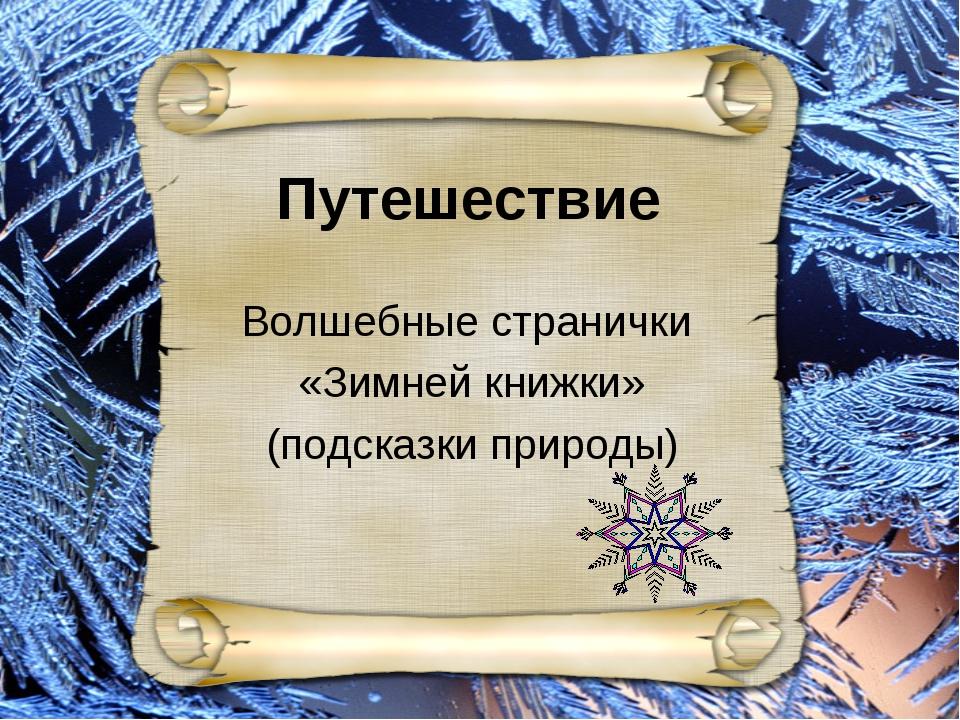 Внеклассное занятие Волшебные странички «Зимней книжки» (подсказки природы) В...