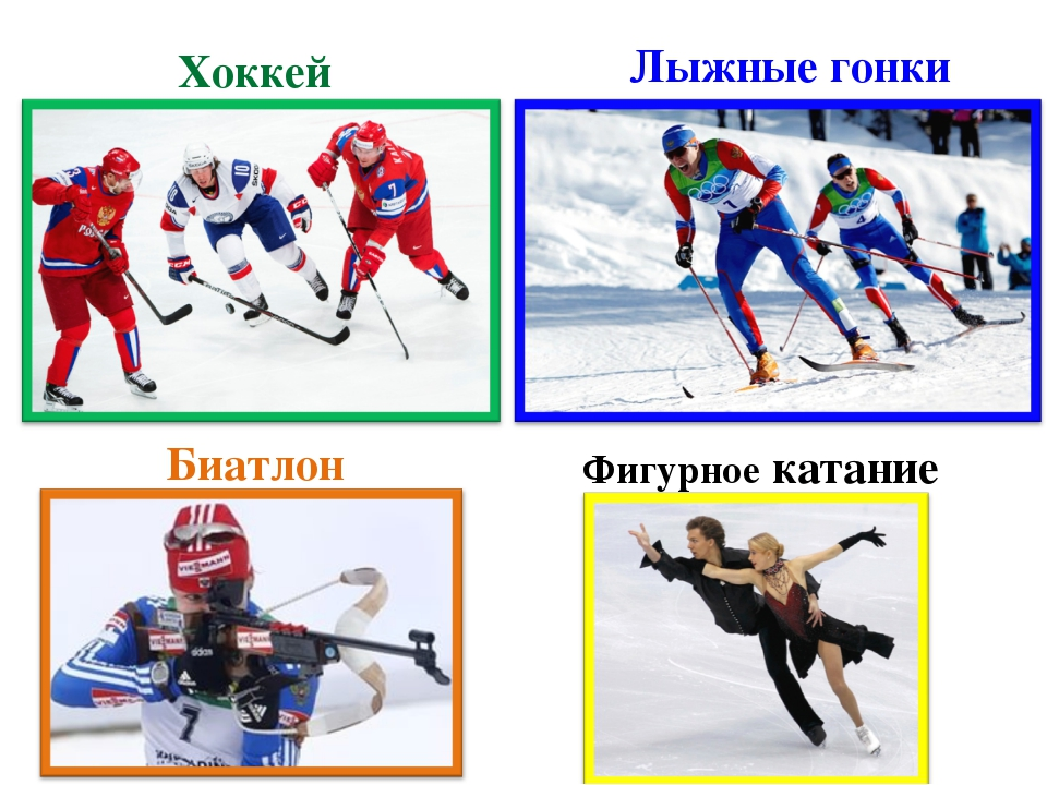 Хоккей Лыжные гонки Биатлон Фигурное катание