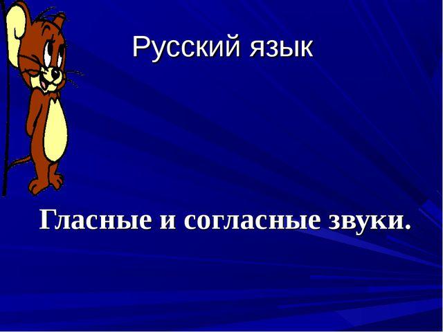 Русский язык Гласные и согласные звуки.