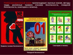 Учебно-инструктивный плакат пропагандирует научные знания, методы труда, разл