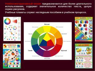 Учебно-инструктивный плакат предназначается для более длительного использован