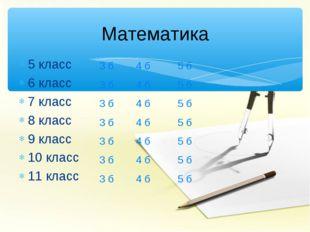 5 класс 6 класс 7 класс 8 класс 9 класс 10 класс 11 класс Математика 3 б 3 б