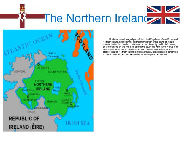 The Northern Ireland Northern Ireland, integral part of the United Kingdom o...