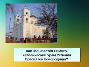 Как называется Римско-католический храм Успения Пресвятой Богородицы?