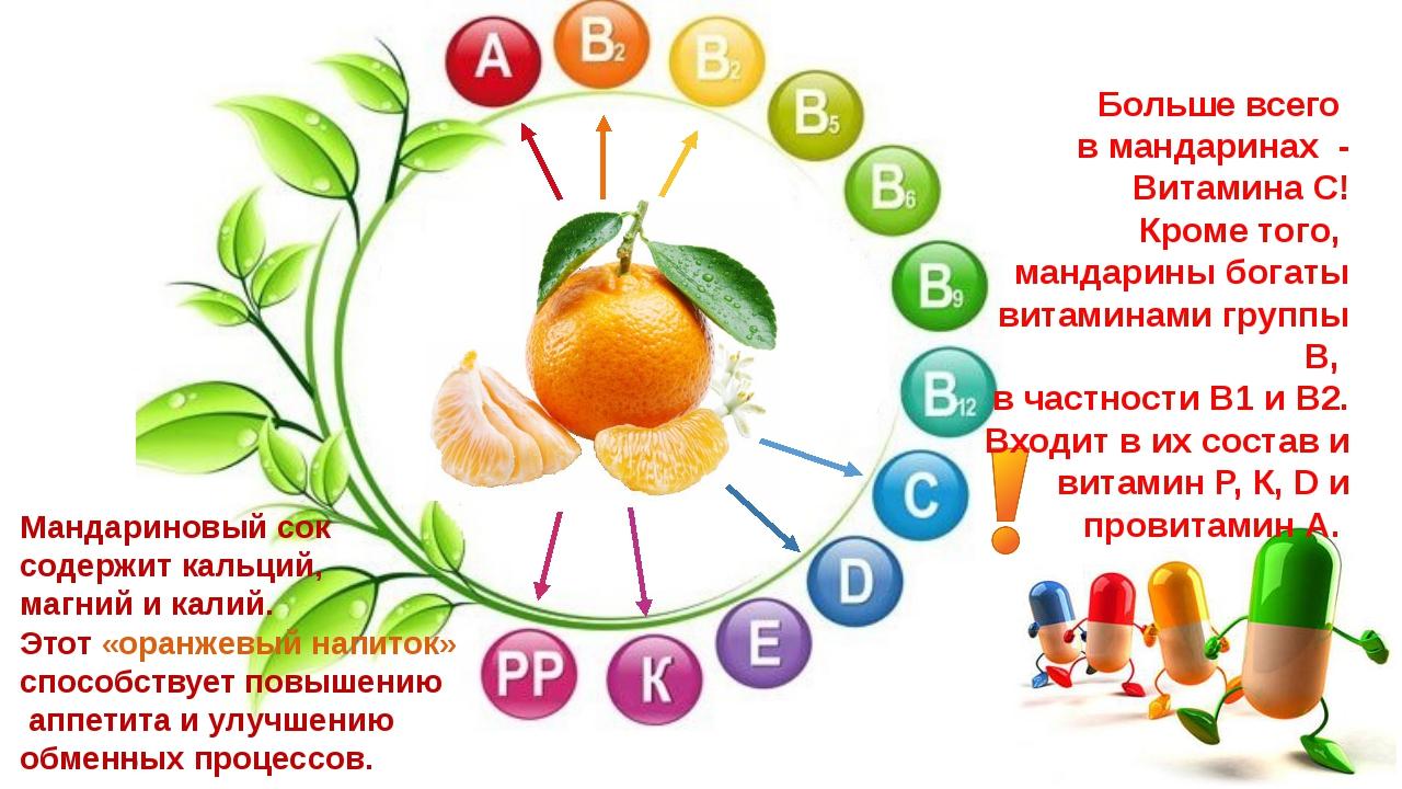 Больше всего в мандаринах - Витамина С! Кроме того, мандарины богаты витамина...