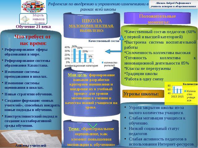 Реформирование сферы образования в мире. Реформирование системы образования К...