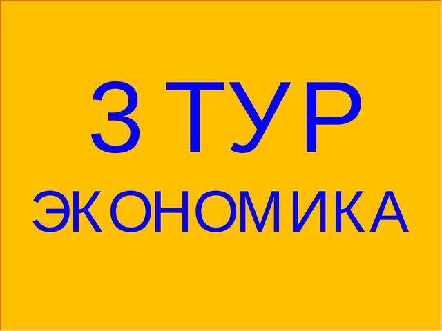 3 ТУР ЭКОНОМИКА