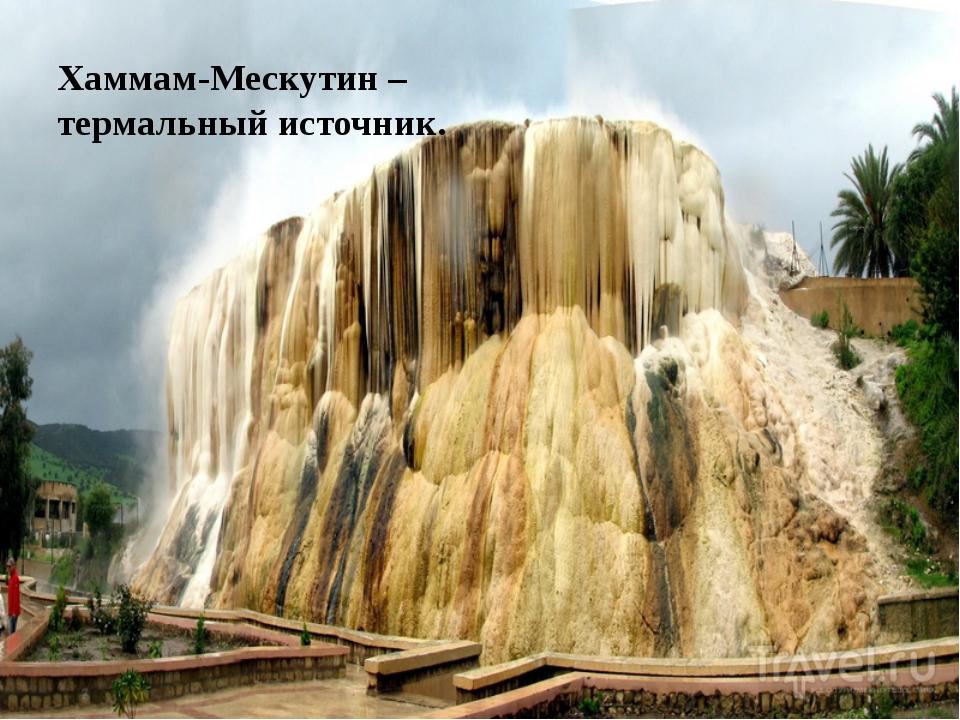Хаммам-Мескутин – термальный источник.