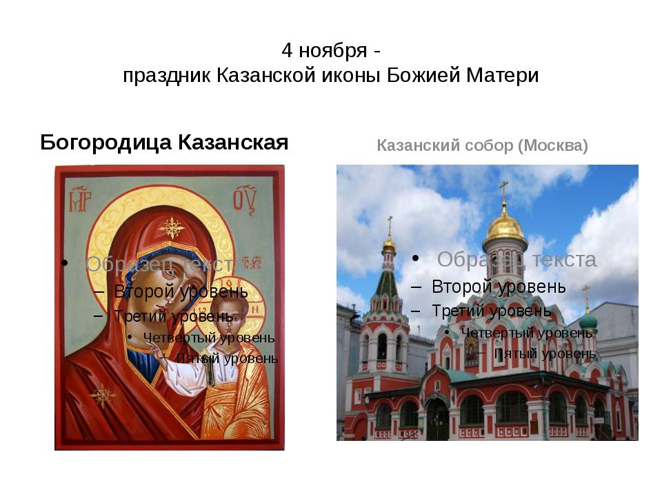 4 ноября - праздник Казанской иконы Божией Матери Богородица Казанская Казанс...