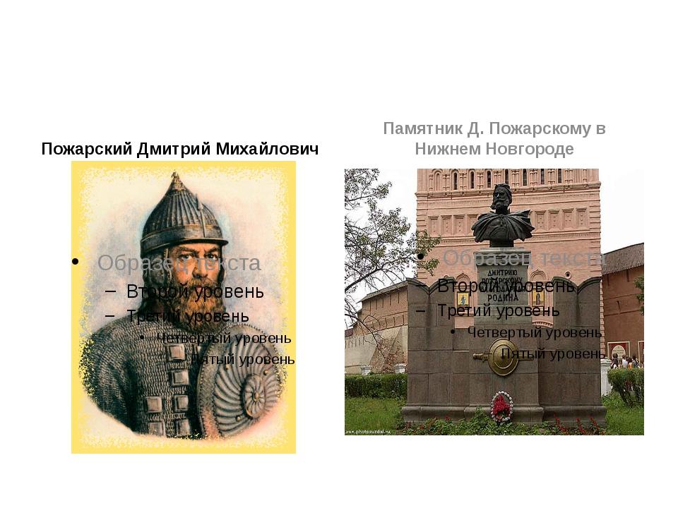 Пожарский Дмитрий Михайлович Памятник Д. Пожарскому в Нижнем Новгороде