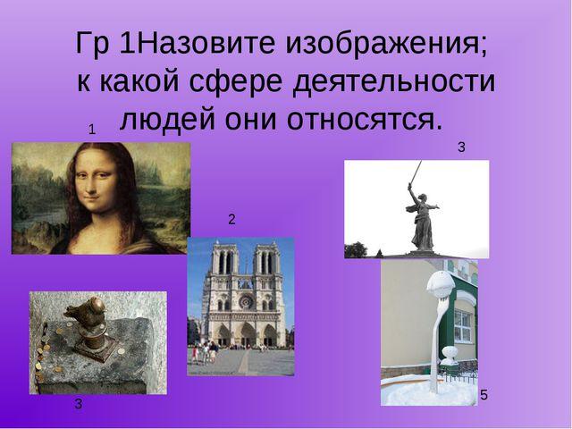 Гр 1Назовите изображения; к какой сфере деятельности людей они относятся. 1 2...