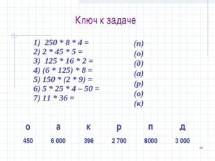 Ключ к задаче 14 (п) (о) (д) (а) (р) (о) (к) оакрпд 4506 0003962 700