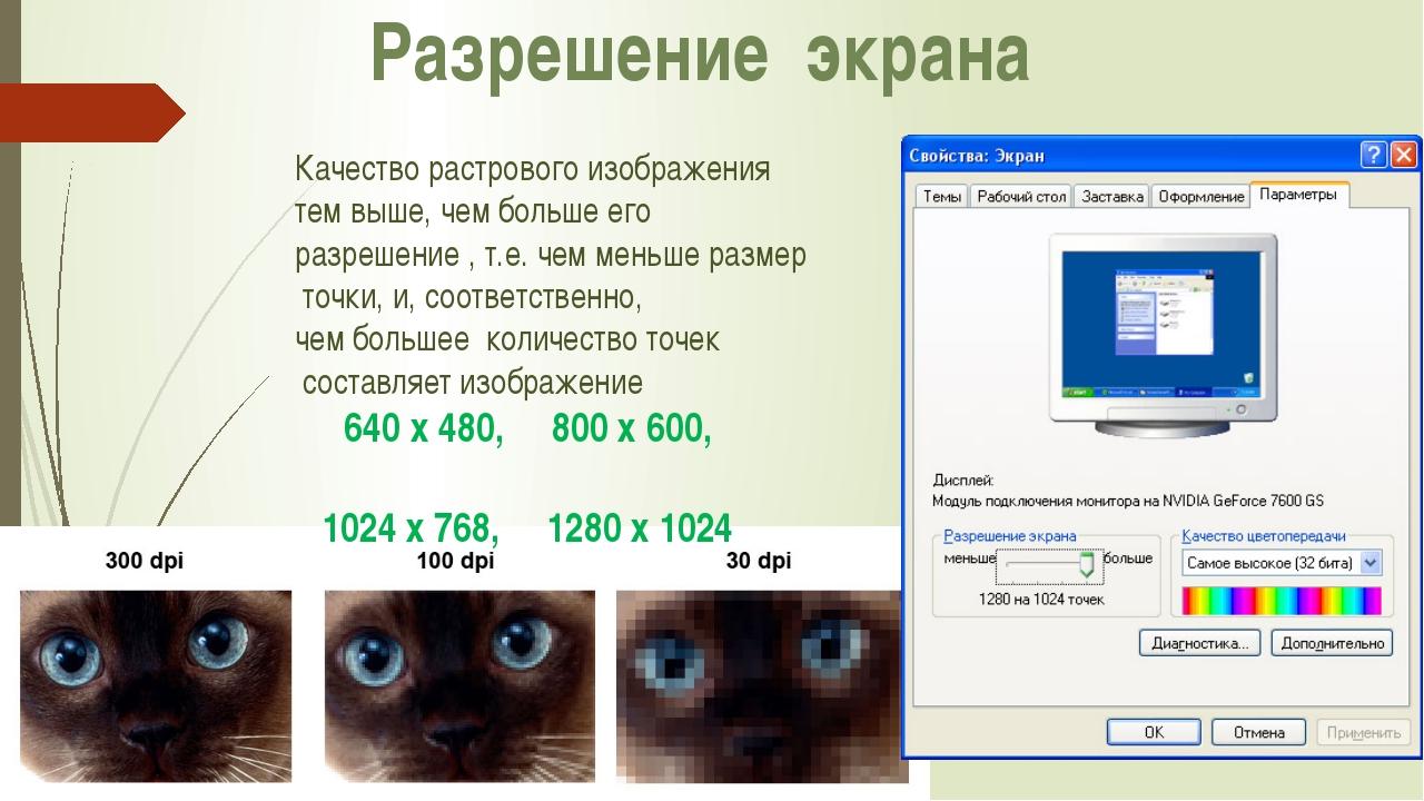 Что влияет на качество картинки на компьютере