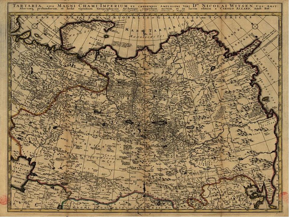 У 1705 році амстердамський міський голова Ніколаас Вітсен опублікував мапу Та...