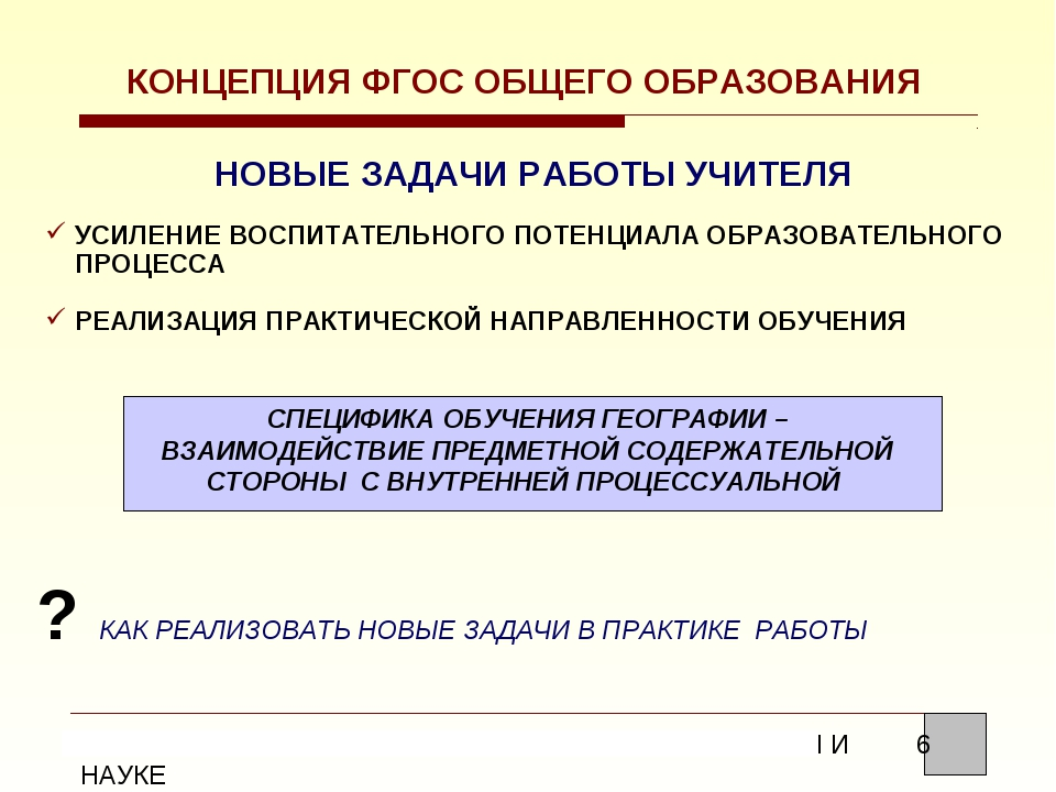 КОНЦЕПЦИЯ ФГОС ОБЩЕГО ОБРАЗОВАНИЯ НОВЫЕ ЗАДАЧИ РАБОТЫ УЧИТЕЛЯ УСИЛЕНИЕ ВОСПИТ...