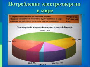 Потребление электроэнергии в мире
