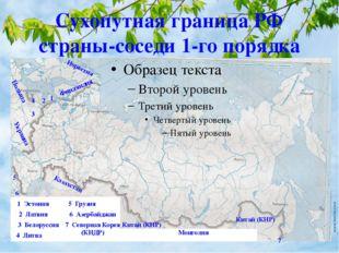 Сухопутная граница РФ страны-соседи 1-го порядка Норвегия 1 1 Эстония Финлянд