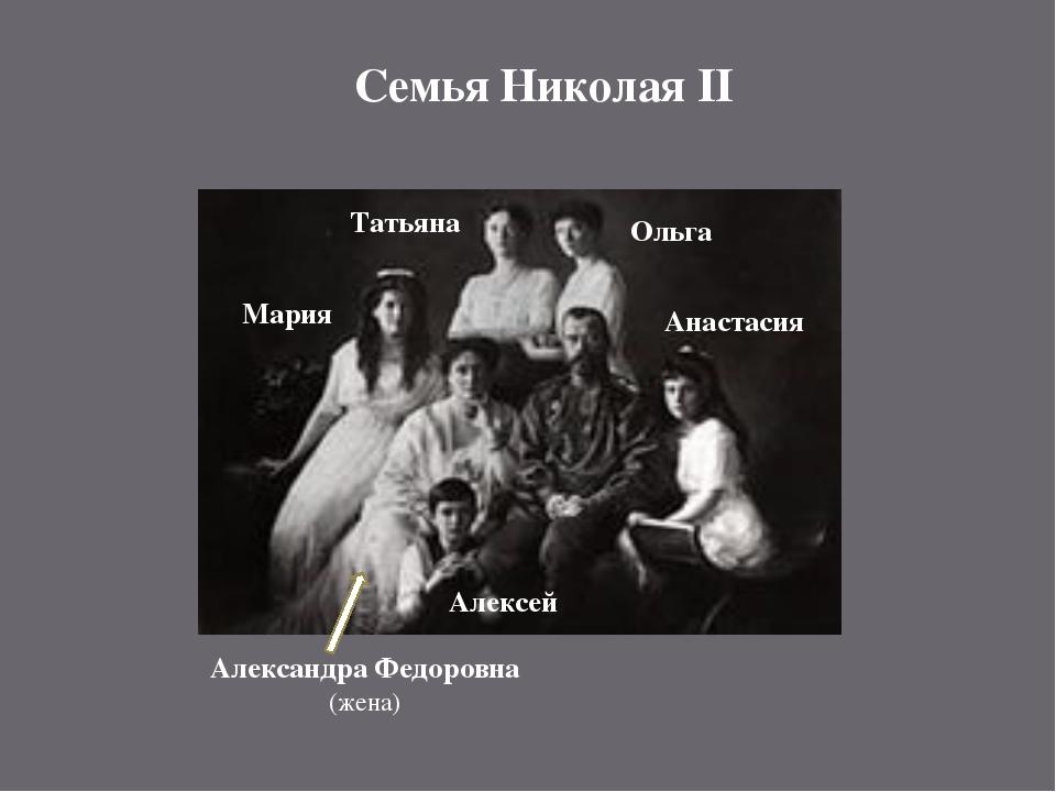 Семья Николая II Александра Федоровна (жена) Анастасия Мария Татьяна Ольга Ал...
